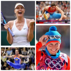 Российские спортсмены и комментаторы